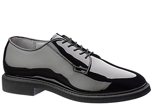 Maelstrom Women's High Glossy Oxford Shoe, Black, 8 M US