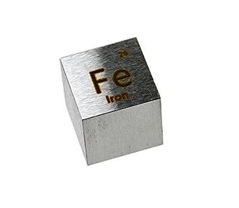 Iron Metal 10mm Density Cube 99.5% Pure: Amazon.com ...