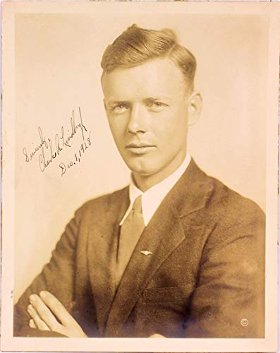 Charles A Lindbergh Sincerely Dec 1 1928 Autographed Signed 8x10 Photo Memorabilia JSA #Z42070