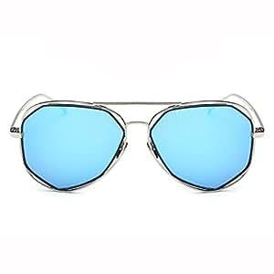 Sra Gafas De Sol Masculinas / Gafas De Sol / Tendencias De La Conducción Del Espejo / Gafas De Sol,Blue