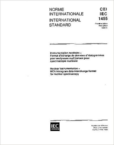 Book IEC 61455 Ed. 1.0 b:1995, Nuclear instrumentation - MCA histogram data interchange format for nuclear spectroscopy