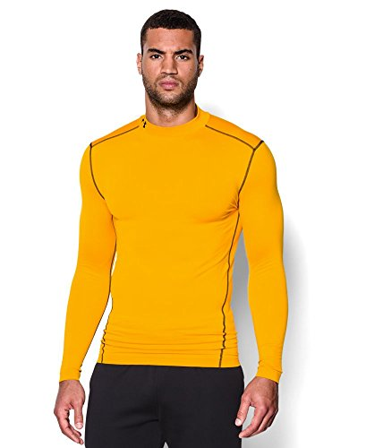 Under Armour Men's ColdGear Armour Compression Mock Long Sleeve Shirt, Steeltown Gold /Black, XXX-Large by Under Armour (Image #4)