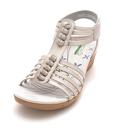 Bare Traps Frauen Hinder Offener Zeh Leger Sandalen mit Keilabsatz Ash