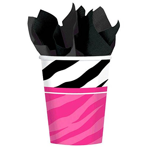 Pink and Zebra Print 9 oz. Paper Cups