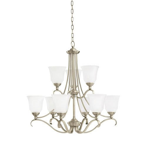Sea Gull Lighting Parkview Antique Brushed Nickel Energy Star Nine-Light LED Chandelier (965 Parkview 3 Light)