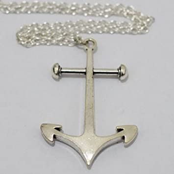 Large silver anchor necklace anchor pendant charm necklace anchor large silver anchor necklace anchor pendant charm necklace anchor necklace anchor charm aloadofball Images