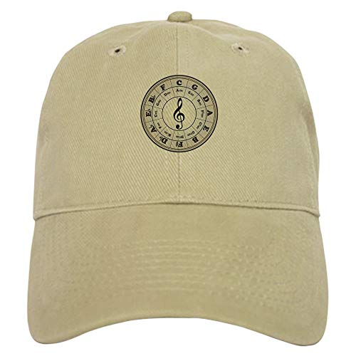 CafePress Pearl Circle of Fifths Baseball Cap with Adjustable Closure, Unique Printed Baseball Hat Khaki ()