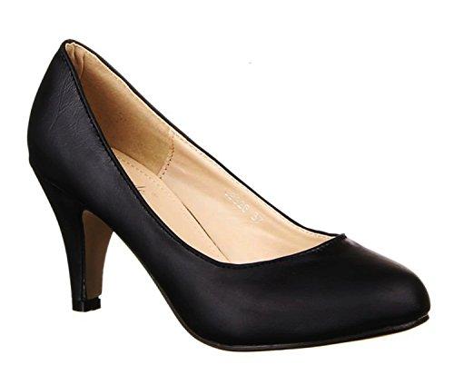 Klassische Damen Pumps Stilettos Abend Schuhe Party Hochzeit U93 Schwarz
