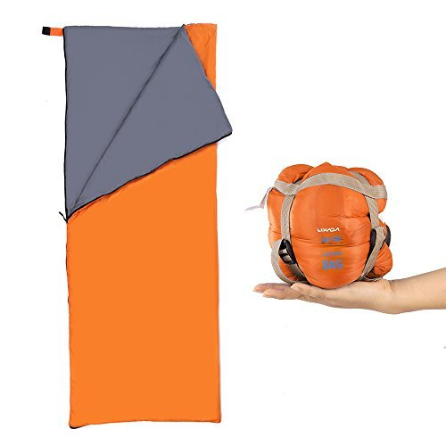 Lixada Saco de Dormir Ultra Ligero Multifuncional 190 * 75cm 680g de Forma de Sobre para