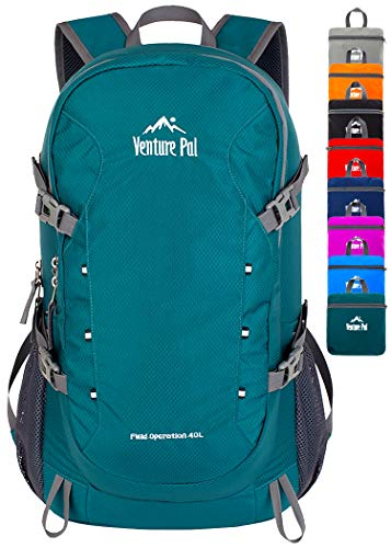 Venture Pal 40L Lightweight Packable Backpack with Wet Pocket - Durable...