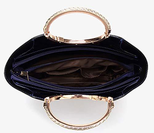 de Burdeos hombro Shoppers bandolera Mujer de mano bolsos DEERWORD Bolsos clutches Carteras y y Ozwpxq