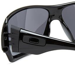 Oakley Offshoot OO9190-03 Iridium Wrap Sunglasses,Polished Black,55mm