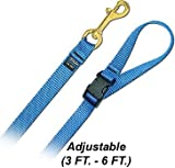 6′ Pet Leash – Medium w/ Quick Release Handle – Step 4 Red Dog Leash, My Pet Supplies