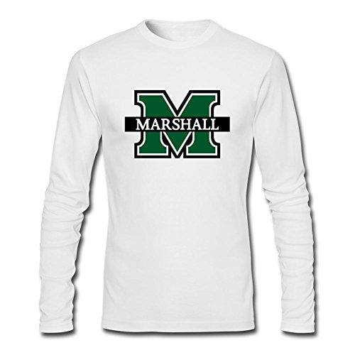 CNTJC Men's Marshall University Bar M Logo Long Sleeve Shirt XL