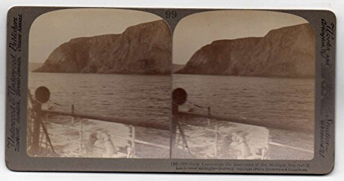 Norway North Cape Midnight Sun Scenic View Antique Stereoview J77574