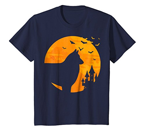 Kids Belgian Tervuren Tee Scary Halloween T Shirt 12 Navy