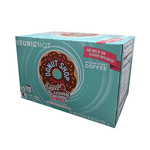 The Original Donut Shop Sweet & Creamy Coffee K-Cups, 10 ct (Retail Packaging)
