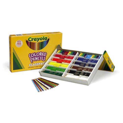 Crayola 240 Ct Colored Pencil Classpack, 12 Assorted - Crayola Large Box Sets