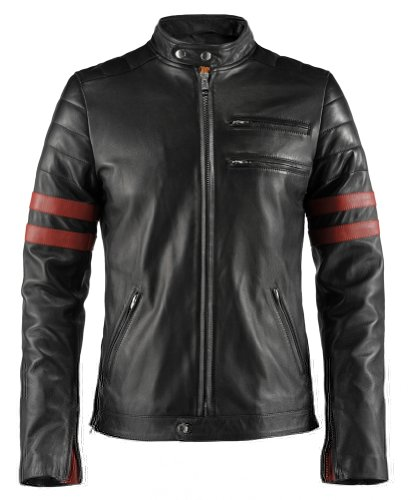 Soul Revolver Hybrid 70s Leather Jacket - Black - L