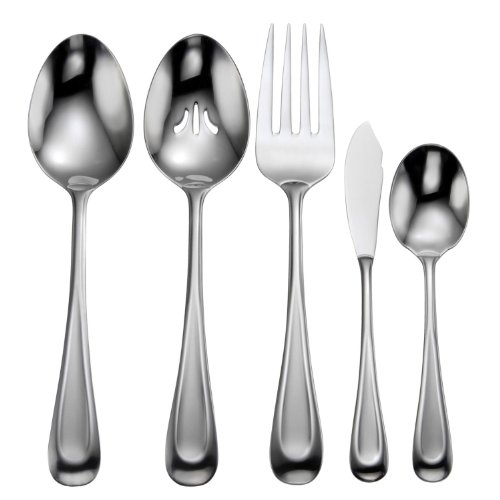 Satin Serving Flatware - Oneida Satin Sand Dune 5 Piece Serving Set