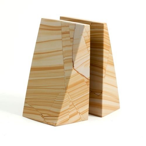 Triangular Natural Marble Bookends [Kitchen]