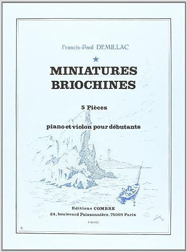 Lire en ligne Miniatures briochines (5 pièces débutantes) pour Violon et piano pdf
