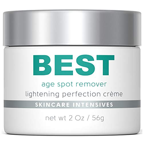 Best Age Spot Remover - Dark Spot Corrector - Excellent Brown Spot, Rosacea and Scar Cream - Strongest Non Prescription Treatment Available - 2 Oz Jar (Prescription Cream To Remove Dark Spots On Face)