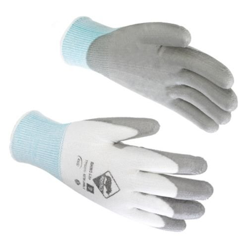 Tilsatec TTP030 Rhino Lite Cut Resistant Gloves, Grey Polyurethane Coated Palm and Fingers, Size: XL, 12 Pair by Rhino Wipe (Image #3)
