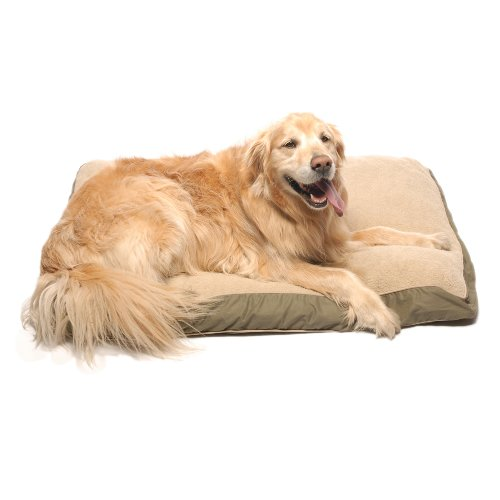 Cpc Four Season Ex Large Pet Bed with Cashmere Berber Top, Olive