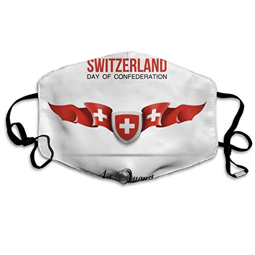 Anti Dust Mask Flag of Switzerland Piaodai Anti Pollution Washable Reusable Mouth Masks]()