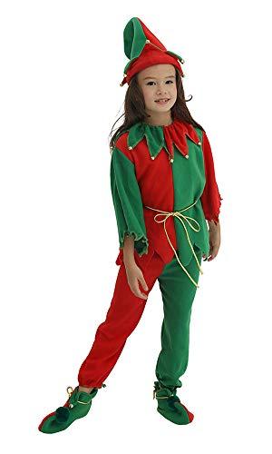 YOLSUN Girls's Santa's Elf Costume (M-Suggest (43