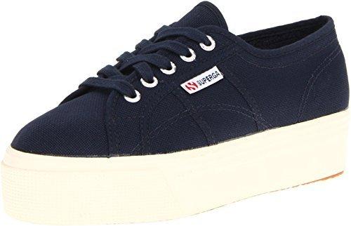Superga Women's 2790 ACOTW Platform Sneakers, Navy, 9 M US