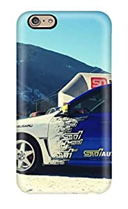 [AECjOYB3304OEjUo] - New Subaru Rally Blue Car Parked In Snow Protective Iphone 6 Classic Hardshell Case