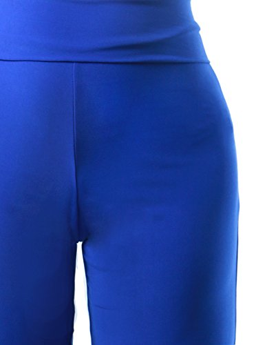 Women's Full Length Palazzo Light Weight Gaucho Solid Pant Collection SMALL BLUE-P30839