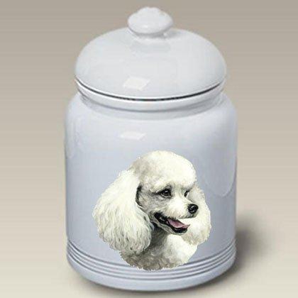 Poodle (White): Ceramic Treat Jar 10'' High #45004