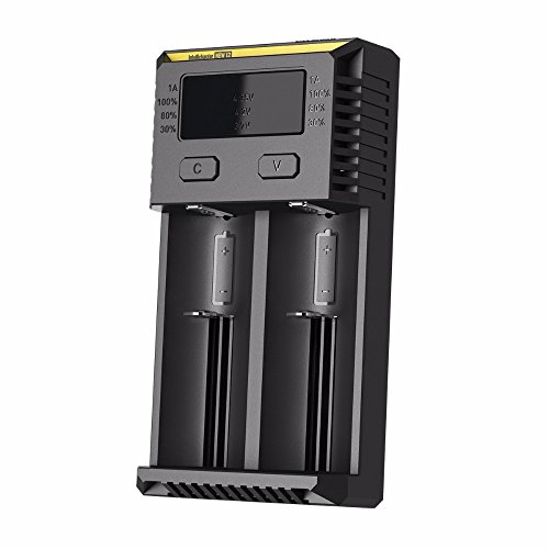 NITECORE i2 2016 Version Intellicharger Universal Smart Battery Charger For Li-ion/IMR/Ni-MH/Ni-Cd 26650 22650 18650 Batteries Charging by Nitecore
