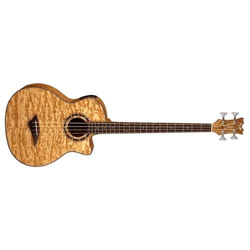 Ash Bass (Dean EQABA GN Exotica Quilt Ash Acoustic/Electric Bass Guitar with Aphex, Gloss Natural)