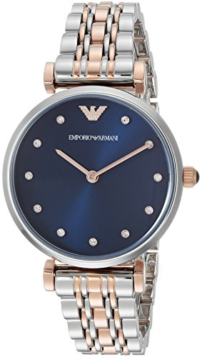 Emporio Armani Women's 'Dress' Quartz Stainless Steel Casual Watch, Color:Silver-Toned (Model: AR11092) Emporio Armani Model