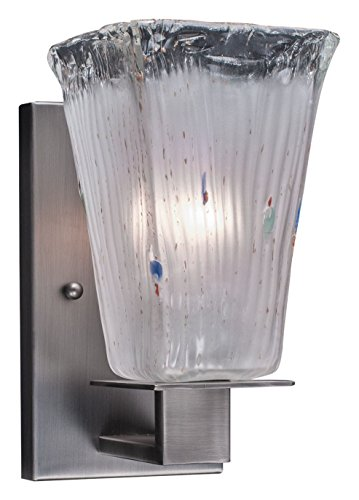 Toltec Lighting 581-GP-631 Apollo Wall Sconce with 5″ Square Frosted Crystal Glass, Graphite Finish