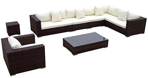 Baidani Rattan Lounge-Garnitur Sun-Master, 25-teilig, braun meliert ...