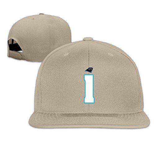LINNA Custom Unisex-Adult Carolina #1 Football Player Flat Billed Baseball Cap Hat Natural