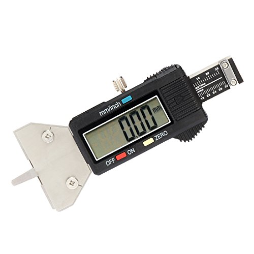 Tire Conversion - uxcell Digital Tire Tread Depth Gauge, 25mm/1 inch, Metric/Inch Conversion, Electronic Measuring Tool