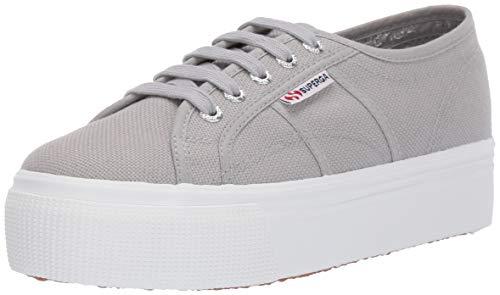 Top supergas platform women shoes canvas gray
