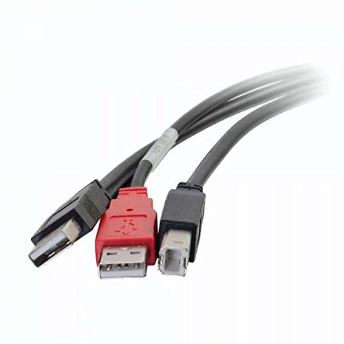 C2G 28108 USB Cable - USB 2.0 One B Male to Two A Male Y-Cable, Black (6 Feet, 1.82 Meters) by C2G (Image #4)
