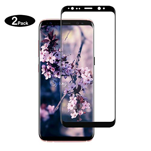Galaxy S8 Plus Screen Protector (2 Packs), Basesailor Anti-Scratch, HD Clear, Case Friendly 3D Curved Protective Tempered Glass Compatible Samsung Galaxy S8 Plus (Not Galaxy S8)