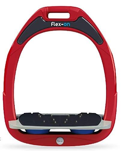 【 限定】フレクソン(Flex-On) 鐙 ガンマセーフオン GAMME SAFE-ON Mixed ultra-grip フレームカラー: レッド フットベッドカラー: グレー エラストマー: ブルー 07606   B07KMDZQQN