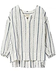 Nili Lotan Womens Provence White Striped Blouse