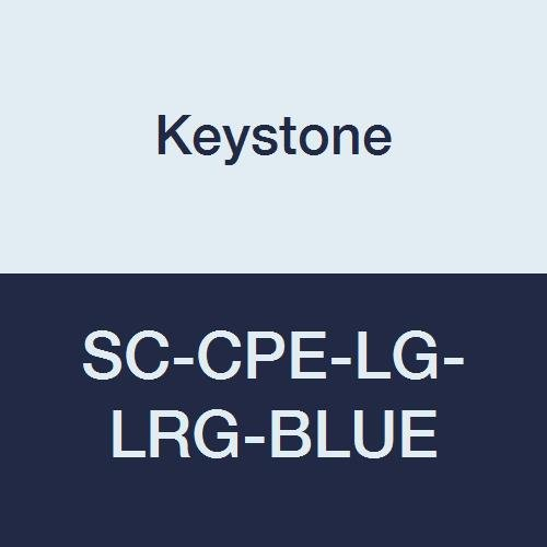 Keystone SC-CPE-LG-LRG-BLUE Keytone, Cross Linked Polyethylene Shoe Cover, Water Resistant, Blue (Pack of 300)