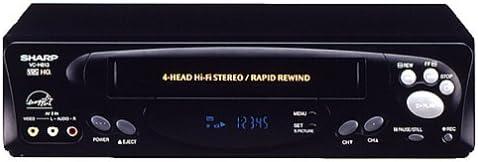 B00004SY4W Sharp VCH813U 4-Head Hi-Fi VCR 4193PPGMKSL