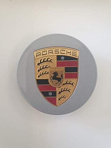 AUTOFORNITURE ITALIA COPRIMOZZO COPPETTA BORCHIA Grigio Oro CONCAVO per Cerchi in Lega Diametro Esterno 75MM Interno 57MM Boxster Cayman Cayenne Panamera 911